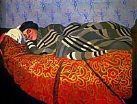 Laid down woman, sleeping, 1899, vallotton