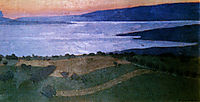 The Lake Lema, effect of the evening, 1900, vallotton