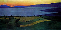 The Lake Leman, effect of the evening, 1900, vallotton