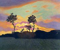 Landscape at Sunset, 1919, vallotton