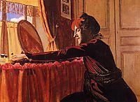 Madame Felix Vallotton at Her Dressing Table, 1899, vallotton