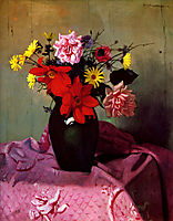 Pinks and daisies or Pinks and dahlias, 1912, vallotton