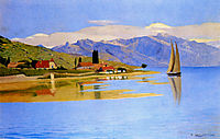 The Port of Pully, 1891, vallotton