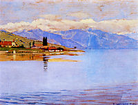 The port of Pully (study), 1889, vallotton