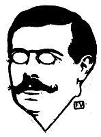 Portrait of American (French language) poet Stuart Merrill, 1898, vallotton