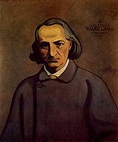 Portrait of Baudelaire, 1902, vallotton
