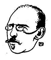 Portrait of Belgian writer George Eekhoud , 1896, vallotton