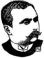 Portrait of Danish writer Peter Nansen , 1897, vallotton