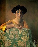 Portrait de Gabrielle Vallotton, 1908, vallotton