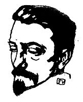 Portrait of Dutch writer Multatuli , 1896, vallotton