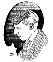 Portrait of English writer and illustrator Aubrey Beardsley , 1898, vallotton