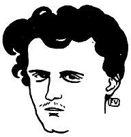 Portrait of French poet le Comte de Lautréamont , 1896, vallotton