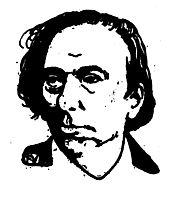 Portrait of French writer Ernest Hello , 1898, vallotton