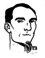 Portrait of French writer Félix Fénéon , 1898, vallotton