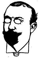Portrait of French writer Henri Mazel , 1898, vallotton