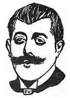 Portrait of French writer Jean Lorrain , 1898, vallotton