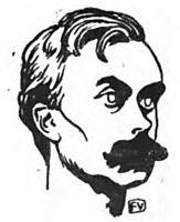 Portrait of French writer Léon Bloy , 1898, vallotton