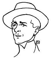 Portrait of French writer Marcel Boulenger , 1899, vallotton