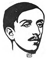 Portrait of French writer Maurice Barrès , 1898, vallotton