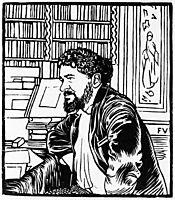 Portrait of French writer Octave Uzanne , 1892, vallotton