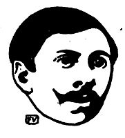 Portrait of French writer Paul Adam , 1896, vallotton