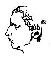 Portrait of French writer Paul Claudel , 1898, vallotton