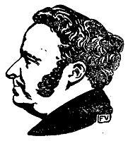 Portrait of French writer Stendhal , 1897, vallotton