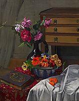 Roses and nasturtiums, 1920, vallotton