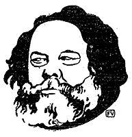 Russian anarchist and philosopher Mikhail Bakunin, 1895, vallotton