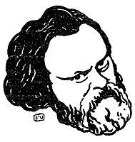 Russian political writer Alexander Herzen, 1895, vallotton