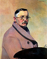 Self-portrait with the dressing gown, 1914, vallotton