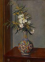 White flowersin a vasedecorated, 1906, vallotton