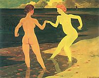 Woman with maid bathing, 1896, vallotton