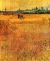 Arles View from the Wheat Fields, 1888, vangogh