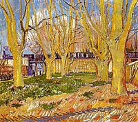 Avenue of Plane Trees near Arles Station , 1888, vangogh