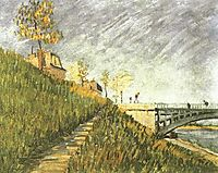 Banks of the Seine near Pont de Clichy, 1887, vangogh
