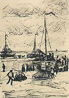 Beach and Boats, 1882, vangogh