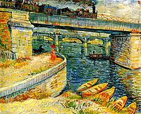 Bridges across the Seine at Asnieres , 1887, vangogh