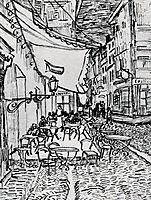 The Cafe Terrace on the Place du Forum, Arles, at Night, 1888, vangogh