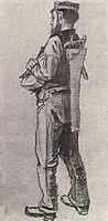 Carpenter, Seen from the Back, 1882, vangogh
