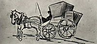 Carriage Drawn by a Horse, vangogh