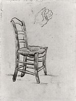 Chair and Sketch of a Hand, vangogh