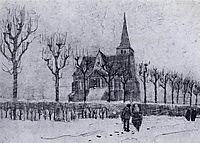 The Church in Nuenen in Winter , 1883, vangogh