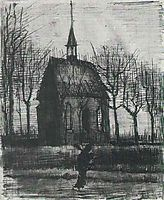 Church in Nuenen, with One Figure, c.1884, vangogh