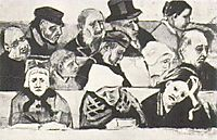 Church Pew with Worshippers, 1882, vangogh