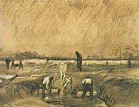 Churchyard in the Rain, 1883, vangogh