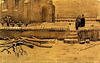 Churchyard in Winter, 1883, vangogh