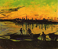 Coal Barges , 1888, vangogh
