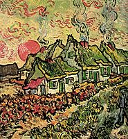 Cottages Reminiscence of the North, 1890, vangogh