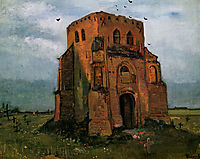 Country Churchyard and Old Church Tower , 1885, vangogh